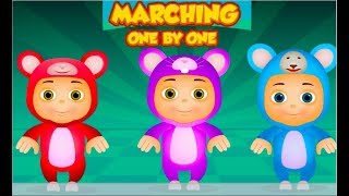 Kids Go Marching One By One | + More Five Little Babies Songs Collection | JamJammies Nursery Rhymes