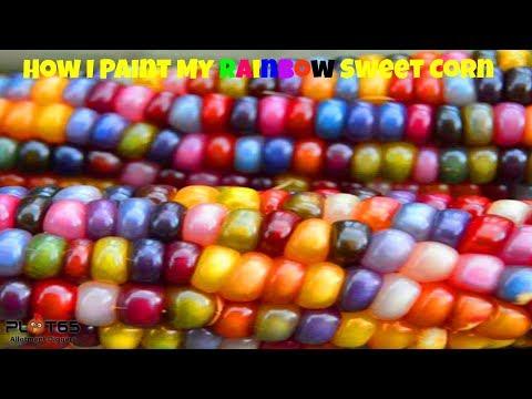 How I Paint My Rainbow Sweet Corn