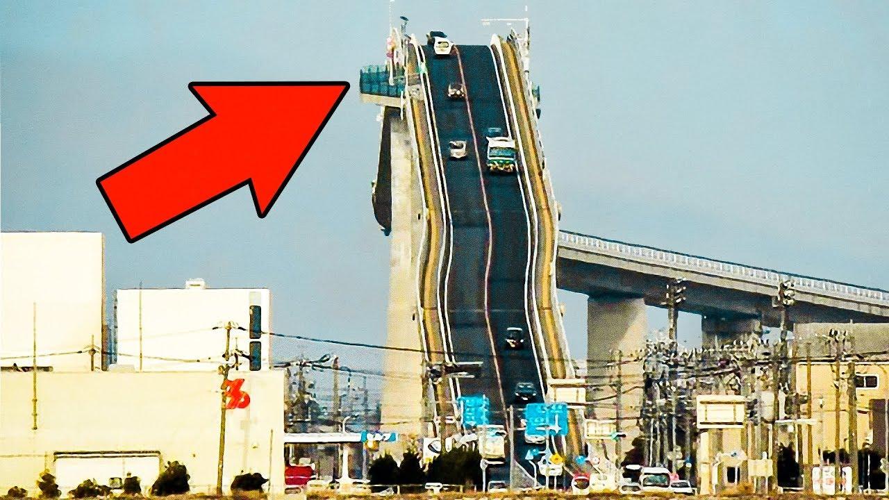 Bridge eshima ohashi in japan