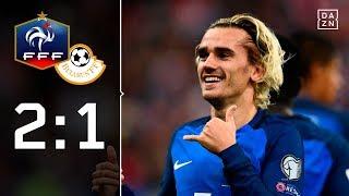 Griezman und Giroud fixieren WM-Ticket: Frankreich – Weißrussland 2:1 | Highlights | WM-Quali | DAZN