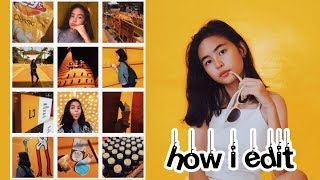 How I Edit My Instagram Photos (Yellow, Colorful Feed) | Princess And Nicole