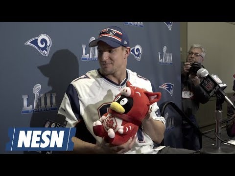 Best Moments Of Rob Gronkowski Super Bowl 53 Press Conference