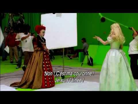 Alice au pays des merveilles dvd making of la reine rouge youtube - Service a the alice au pays des merveilles ...