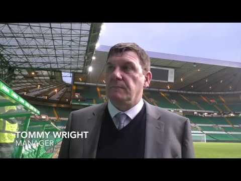 Tommy Wright interview after Celtic game on 18th February 2018