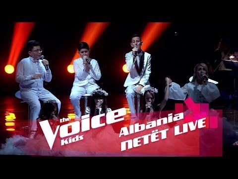 Skuadra Miriam - Dhurata | Netët Live | Nata 3 | The Voice Kids Albania 2018