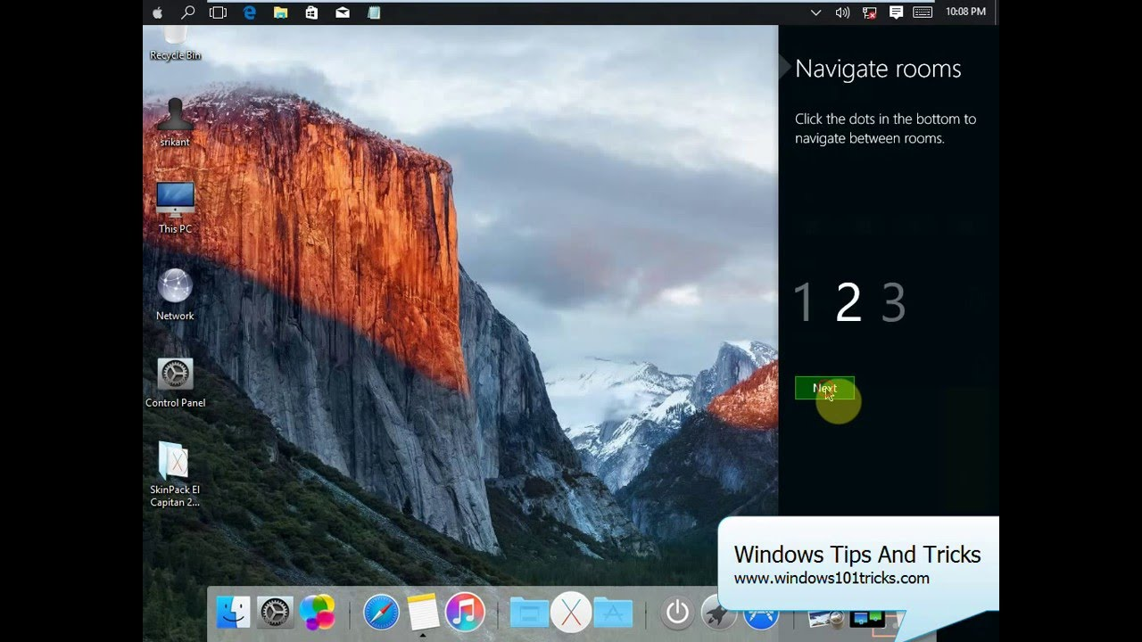 Install MAC OS El Capitan 2 0 SkinPack On windows 10