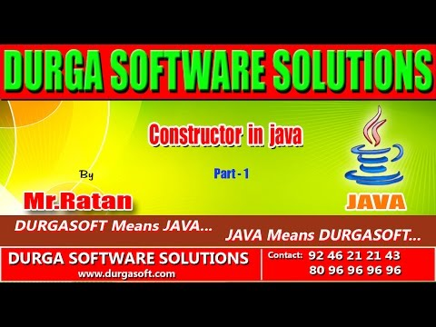 Corejava - Basics - Constructor in java Part - 1