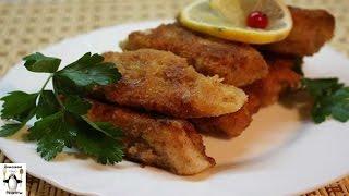 Пошаговый фото рецепт рыбы.Филе пангасиуса,обжареное в сухарях