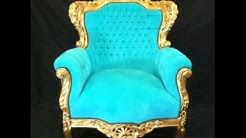 barokki valkoiset huonekalut hopea ja kulta