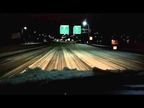 I-20 eastbound Monroe LA Ice Storm Aftermath