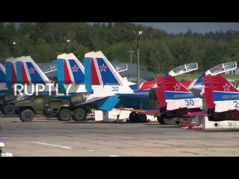 LIVE: Open training ahead of 105th Russian Aerospace Forces Day