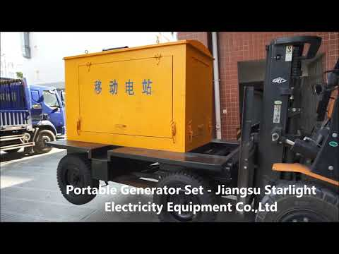 Portable Diesel Generator Set Mobile Movable