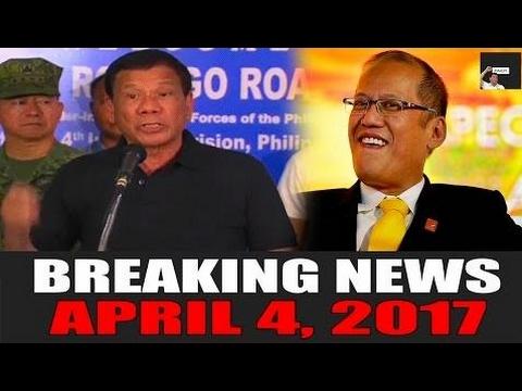 BREAKING NEWS TODAY! APRIL 4, 2017 | Duterte BINIRA si PNOY! | PNOY INVOLED IN K - Philippines News