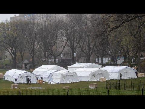 شاهد:مستشفيات ميدانية في نيويورك بعد ارتفاع  عدد ضحايا كورونا بالمدينة …  - نشر قبل 6 ساعة