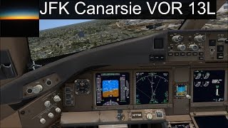 [FSX] PMDG 777-200LR | Canarsie VOR Approach 13L New York JFK