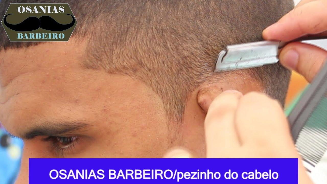 Curso Osanias Barbeiro pezinho do cabelo Curso de acabamento do corte de cabelo