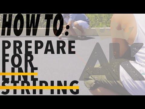 HOW TO: PREPARE FOR ASPHALT LINE STRIPING