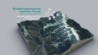 Роза Хутор // На карте Кавказа