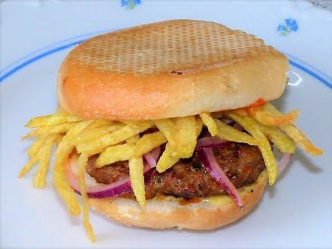 Frita Cubana( Cuban Burger)Receta Cubana