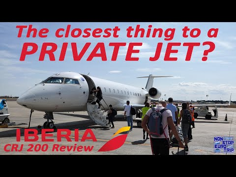 THE CLOSEST THING TO A PRIVATE JET / IBERIA CRJ200 REVIEW  / SPANISH PLANE TRIP REPORT