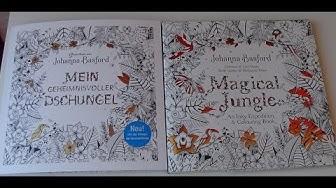 Mein geheimnisvoller Dschungel / Magical Jungle Johanna Basford Vergleich Buchvorstellung