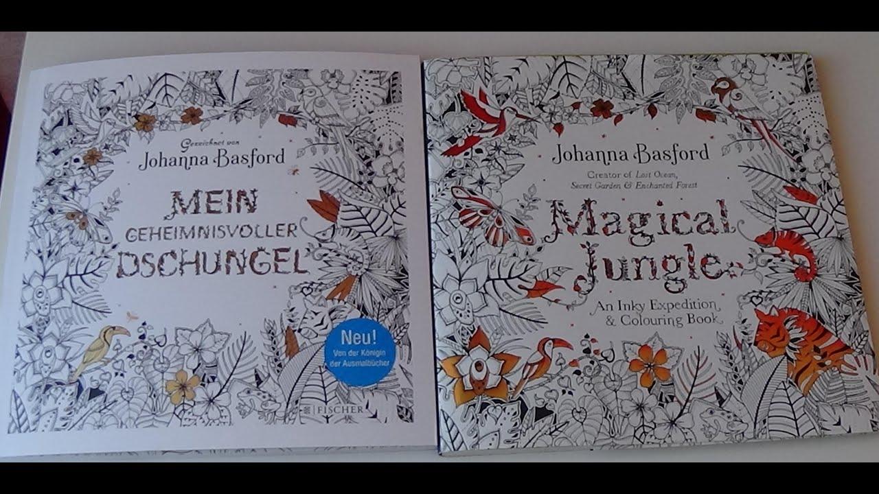 Mein geheimnisvoller Dschungel Magical Jungle Johanna Basford Vergleich Buchvorstellung