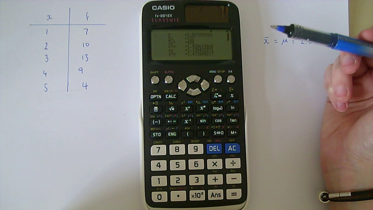how to work out standard deviation on calculator