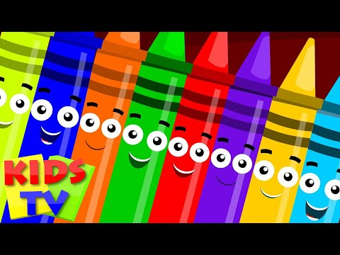 ten in the bed crayons color song learn colors nursery rhyme childrens rhymes  kids tv S02 EP0214