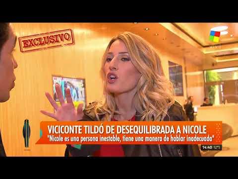 Mica Viciconte tildó de desequilibrada a Nicole
