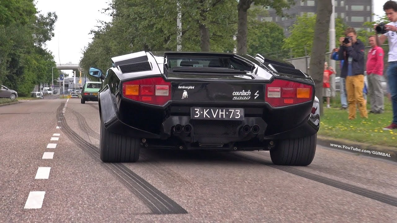 Lamborghini Countach 5000s Exhaust Sounds Youtube