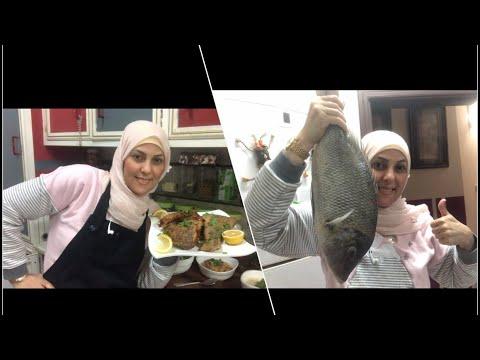 اخيرا فيديو سمك /عملت اكبر سمكة مقلية وندمت /لازم لايك لان ايدي اتشوهت بسببها هههههه/عالم مروة