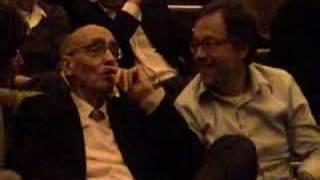 José Saramago assiste Ensaio Sobre a Cegueira