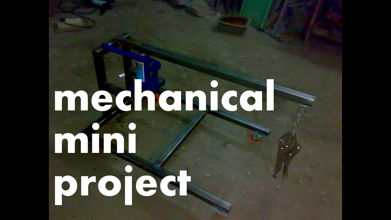 mini project for mechanical engineering at low cost pdf
