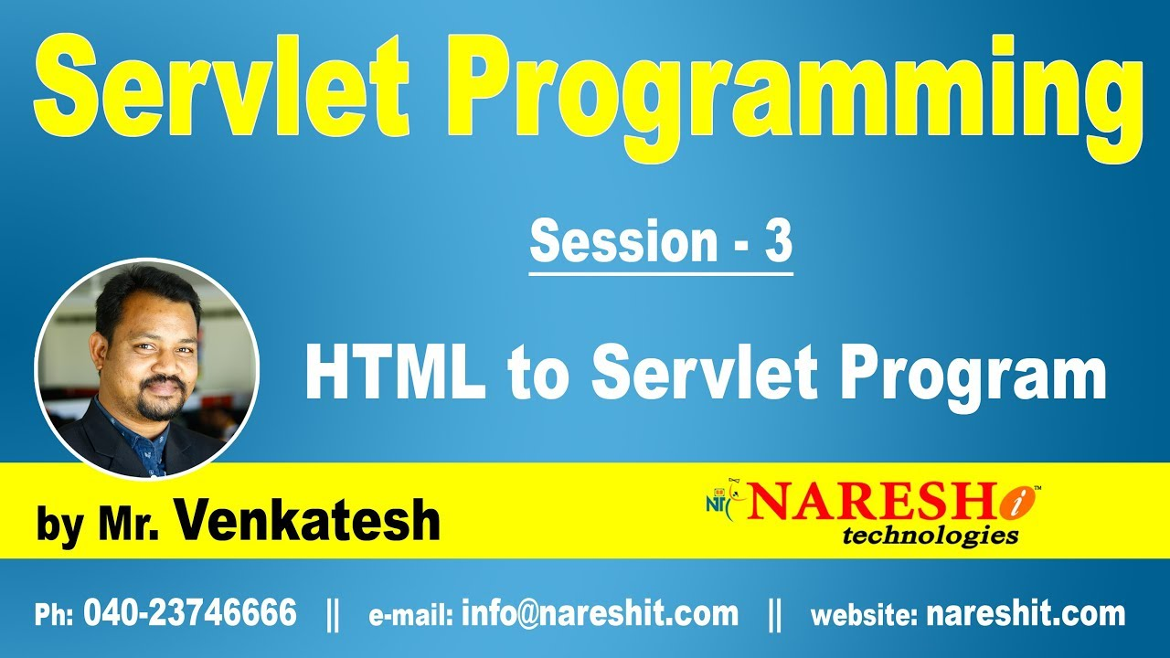 Servlets tutorial html to servlets part 3 servlets programming servlets tutorial html to servlets part 3 servlets programming by mrnkatesh baditri Gallery