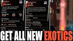 The Division 2 - HOW TO GET ALL 10 NEW EXOTICS IN WARLORDS OF NEW YORK! (BEST WAY & HOW THEY WORK)