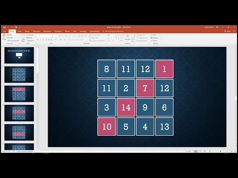 Create A Magic Number Square Generator In PowerPoint
