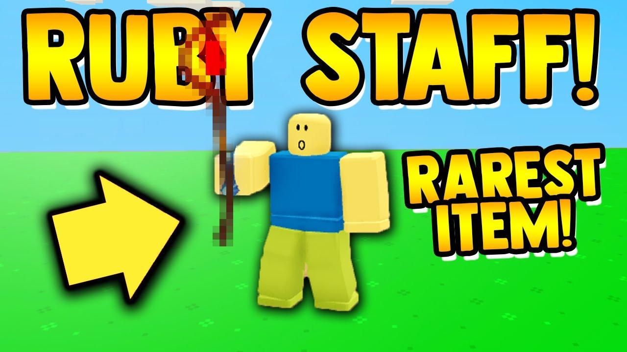*NEW* RUBY STAFF!! (best item) | Roblox Islands/Skyblock