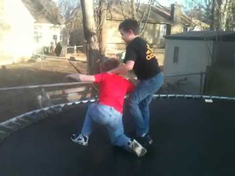 Backyard wrestling kids - YouTube