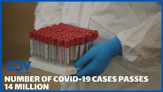 WHO reports a record rise in Coronavirus cases as number of cases passes 14 million mark