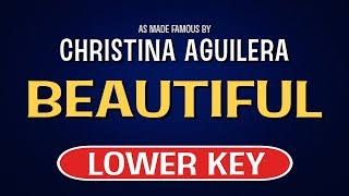 Enjoy singing along with this karaoke version of beautiful as made famous by christina aguilera. (lower key version)beautiful is a song originally recorded b...