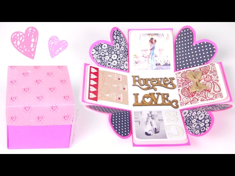 DIY EXPLODING BOX - Valentine's Day Gift Idea | SoCraftastic