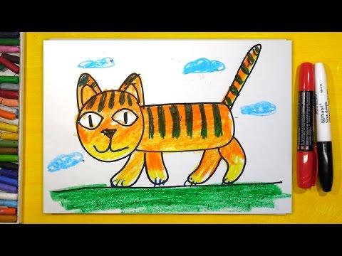 Как нарисовать тигра для детей 8 лет