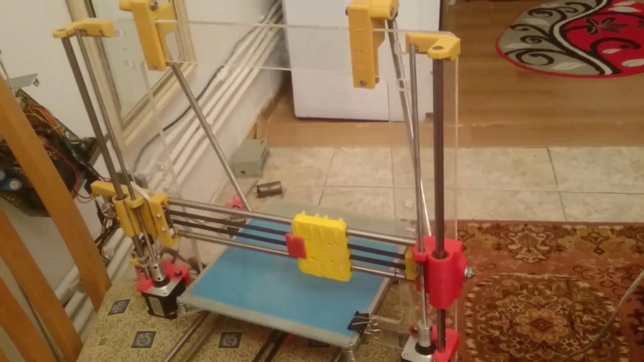 3d printer (prusa i3 Mendel) First test(firmware Mendel)