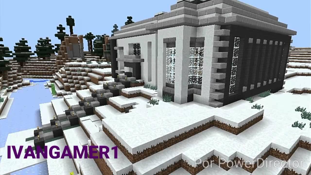 Casa nevada en la nieve casas modernas para minecraft pe for Casa moderna para minecraft pe 0 14 0