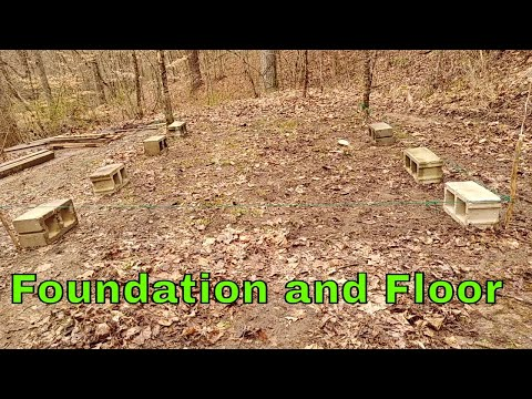 Pallet Wood Cabin Build part 2 Foundation and Floor