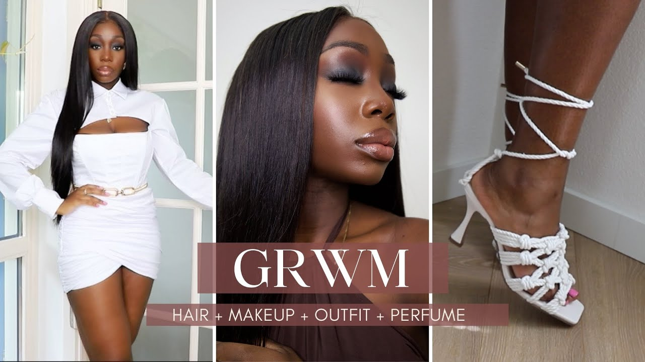 Full GRWM | Smokey Eyes For Dark Skin + Nude Lips | Full Coverage