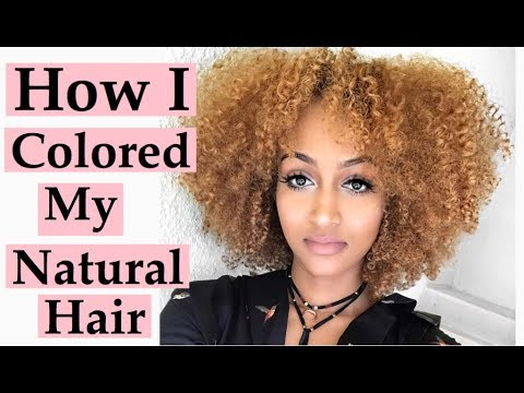 How I Colored My Natural Curly Hair Golden Honey Blonde Products Used Tips