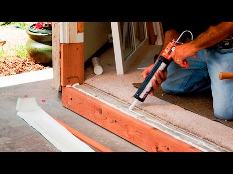 How To Install A Door Sill Threshold And Weatherstripping A Door Youtube