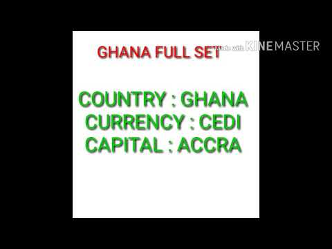 Ghana currency full set