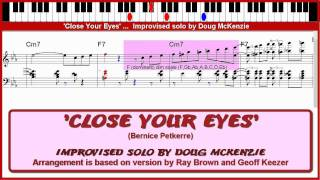 'Close Your Eyes' - jazz piano tutorial